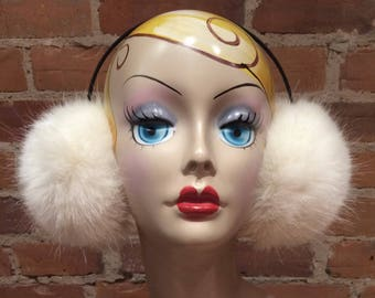 Lucky No.108 Number Name Winter Warm Ear Muffs Faux Fur Ear