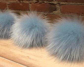 Sparkle White Faux Fur Pom Pom \\ White Fur Pompom \\ Fur Hat Topper