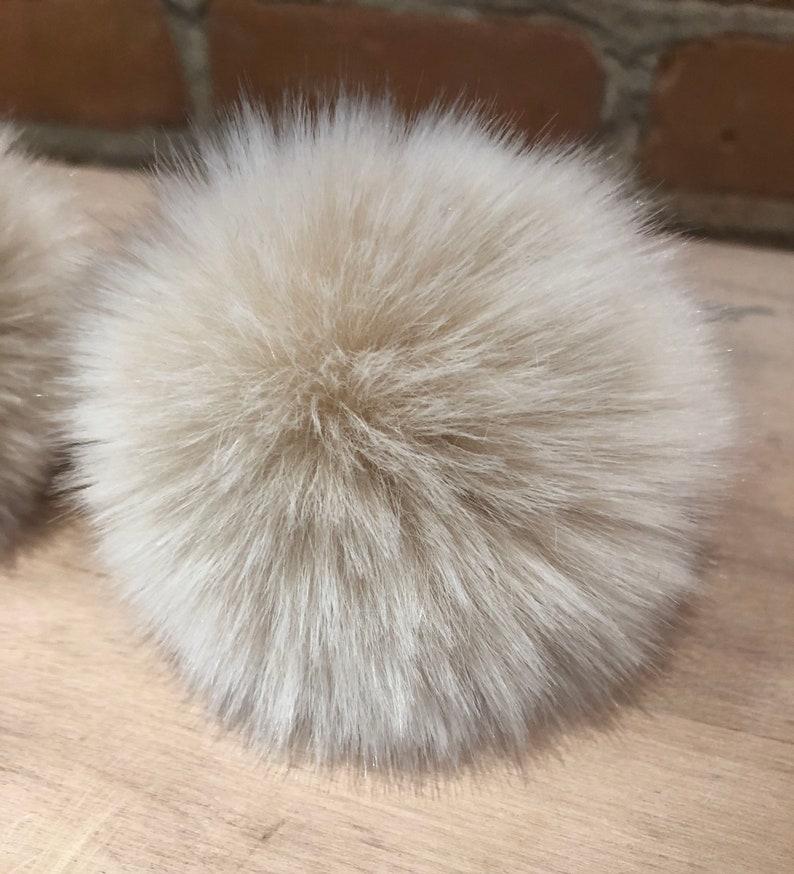 25e6ad1ce Small Cream Beige Pom Pom, 3-Inch, Detachable, Faux Fur Pom, Fur Ball, Baby  Knit Hat Pom Pom, Beige Black Pom, Beige Blush Pom, Black Flecks