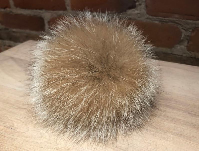 56f7ffa11483a4 Gold Fox Pom Large Pom Pom Recycled Fur Fur Ball Real Fur | Etsy