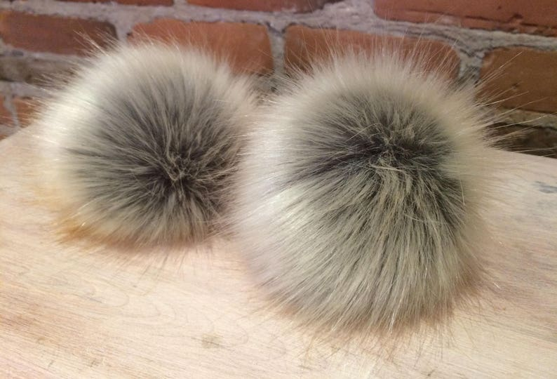 38f3d5aee60 Faux Fur Pom Pom 5 Inch Large Pom Fur Ball Removable Hat