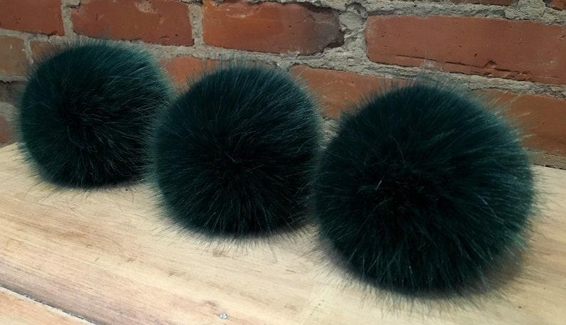 717edbdbcd3 Green Mink Pom Faux Fur Pom Pom Pom Pine Green Fur Ball