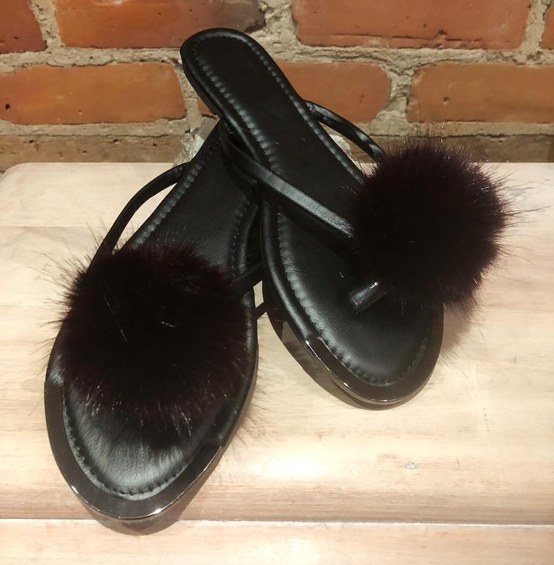 Faux Mink Shoe Pom Clips Faux Fur Shoe Accessories Burgundy Shoe Poms Burgundy Black Poms Pair Poms Faux Shoe Poms Craft Pom Pom