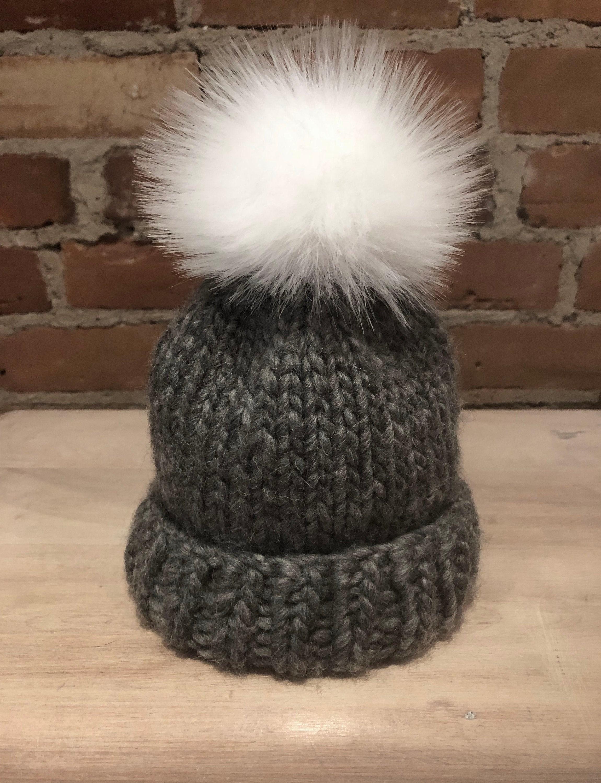c5da04af1 Bright White Hat Pom, Sugar White Pom Pom, Faux Fur Ball, Silky Faux Fur,  3.5-Inch, Knitting Supply, Hat Accessory, Pure White, Detachable