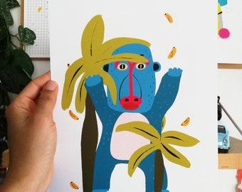 Print - Hungry Gorilla-