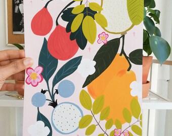 Print - Sunny Fruits-