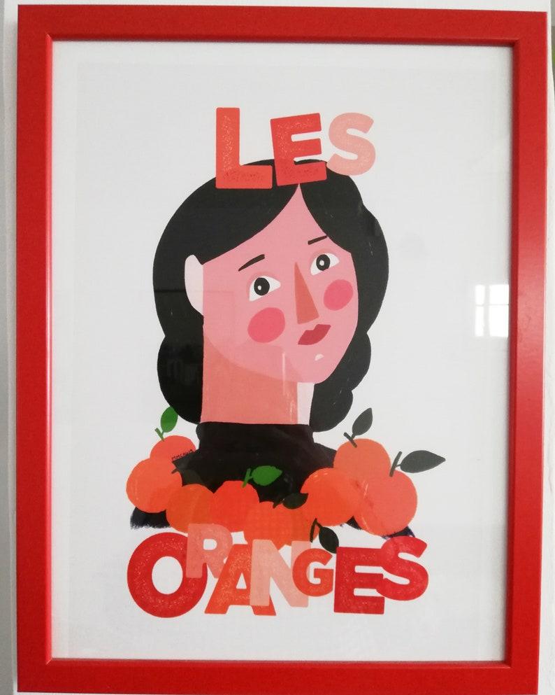 Print  Les Oranges A3 image 0