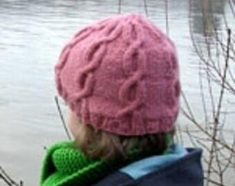 4523e5823427 Bonnet torsades enfant tricot 100 % fait main en France laine torsades rose  toutes tailles possibles
