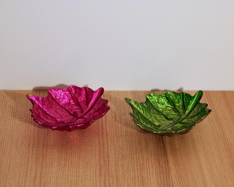 X2 bols ap\u00e9ritifs feuilles de vigne en verre 70/'s
