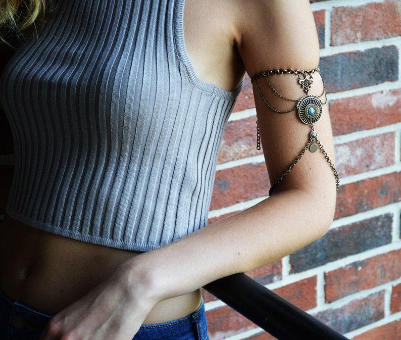 Chain Armlet Shoulder armor chain shoulder jewelry Shoulder image 1