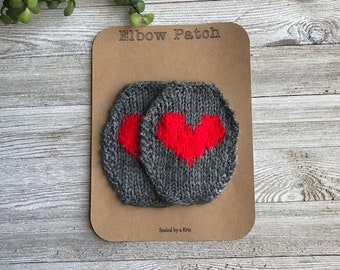 Heart Patch Heart,Unique Gift Black and Red Patch Red Heart Elbow Patches