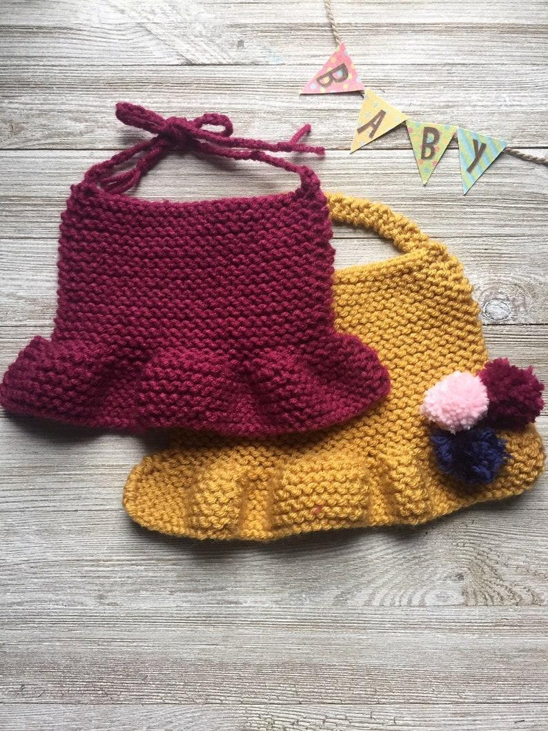 c80f48a27367 Simple baby knit bib pattern Baby girls knit pattern