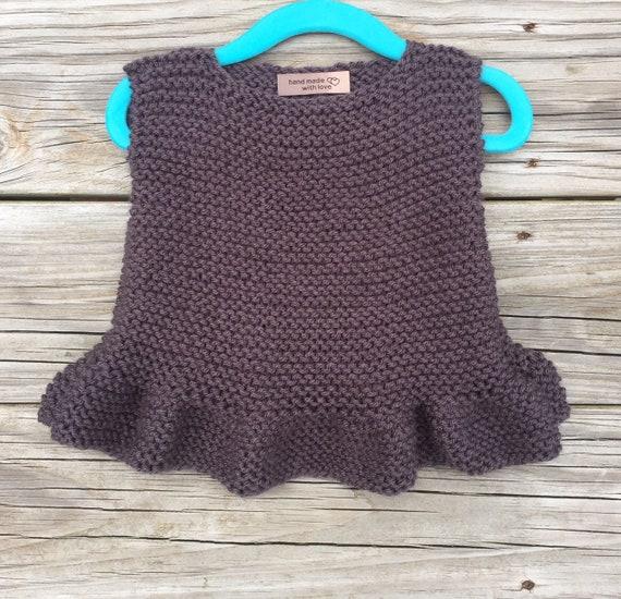 9cd9b74a6803 Knitting Baby Ruffle Tank Pattern Baby knitting pattern Kids