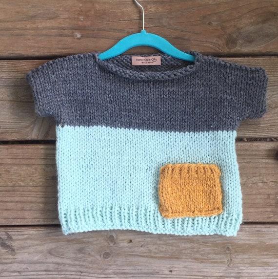 b3755d329374 Easy Kids Knit Pop Top Knitted pattern beginner knitting