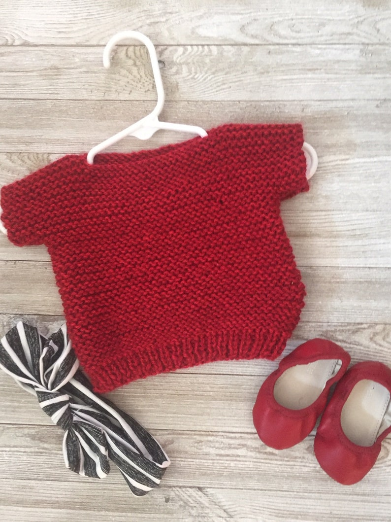 Baby Knitting Pattern Easy Knit Pattern Kids Sweater Etsy