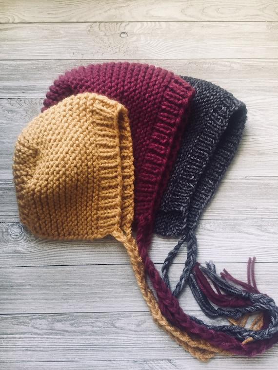 Baby Bonnet Knitting Pattern Simple Modern Knitting Pattern   Etsy