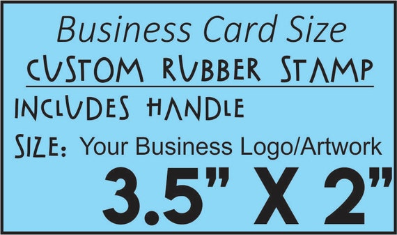 Personalized custom rubber stamp made with business logo text etsy image 0 reheart Choice Image
