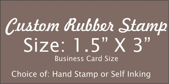 Personalized 15 x 3 custom rubber stamp made with business reheart Image collections