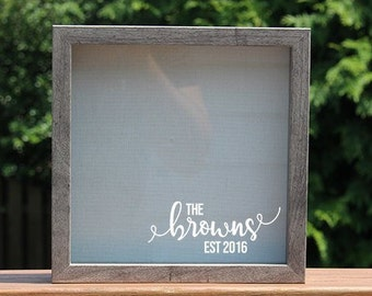 d9768b9a2994 Customizable Family Memory Frame and Bouquet Shadow Box - Wedding    Engagement Gift