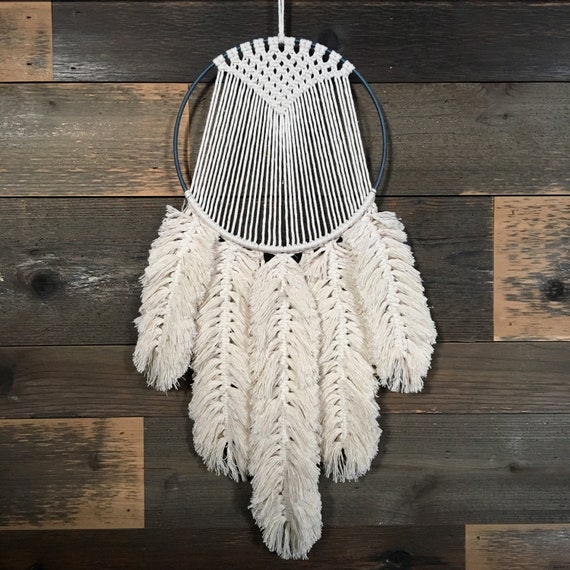 macrame feather tutorial etsy. Black Bedroom Furniture Sets. Home Design Ideas