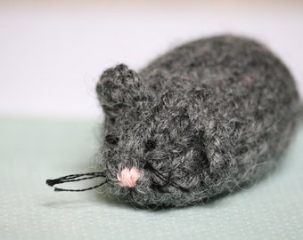 Mouse felted wool