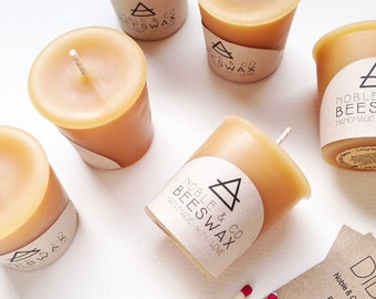 9 x Votive Beeswax Candles