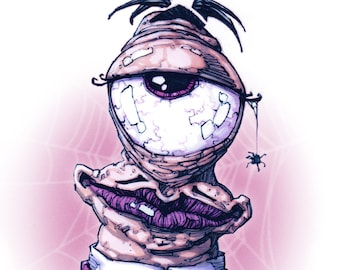 Cyclops Addams - 29.7cm x 21cm signed art print