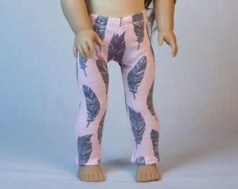 """18"""" Doll Leggings, made to fit American Girl Dolls, Pink Doll Leggings, 18 inch Doll Leggings, 18 inch doll clothes"""