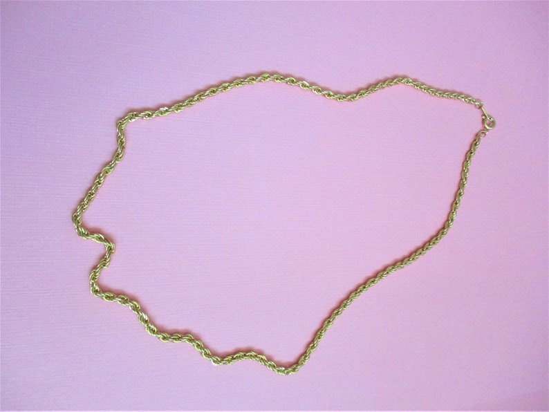 Choker Length Gold Rope Chain 17 12 Necklace  Choker Gold Tone Rope Chain Vintage Jewelry Fashion Accessory Costume Jewelry GCP5