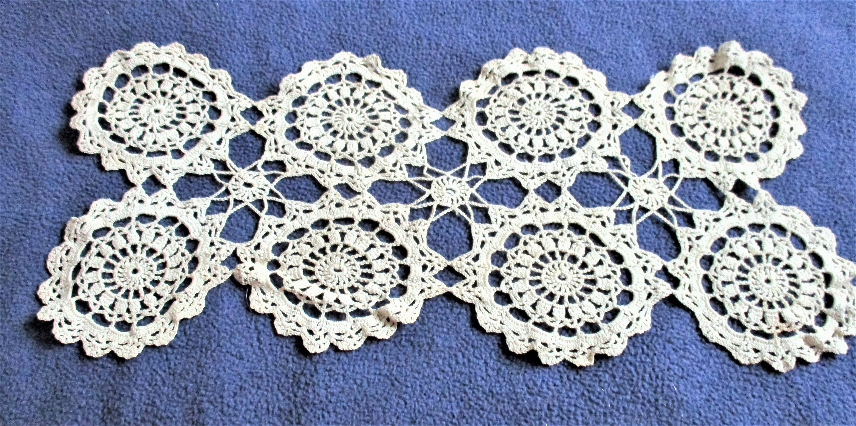 Victorian Table Mat Crocheted Doily Vanity Bureau Scarf Etsy