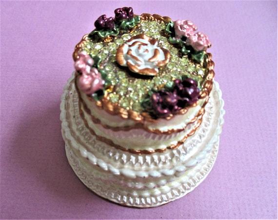 Wedding Cake Ring Box Jewelry Box Birthday Cake Rhinestone