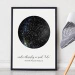 Custom Constellation Map Poster, Night Sky Print, Star Map, Gift for Him, Anniversary Gift Idea, Framed Night Sky, Gift for Her, Star Art