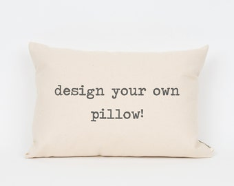 Custom Quote Pillow, Personalized Lumbar Pillow, Gift for Sister, Song Lyric Quote, Home Quotes, Decorative Pillow, Quote Pillow, Song Lyric