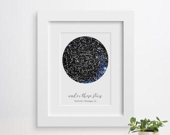 a8cbe710e73044 Custom Constellation Map, Star Map Art, Frames Available, Star Map Art,  Constellation Map Baby, Wedding Gift Couple, Anniversary Gift