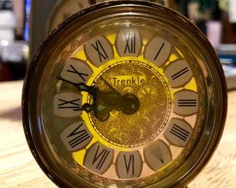 Vintage German Wind-up  Alarm Clock - Trenkle - 1960's