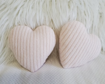 Small heart memory pillows,tiered tray decor,bowl filler,ornament