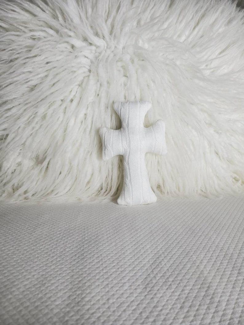 White cross mini pillow,Easter tiered tray decor,bowl filler,shelf sitter,mantle decor