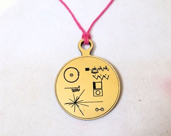 Voyager Golden Record Acrylic Necklace or Keychain
