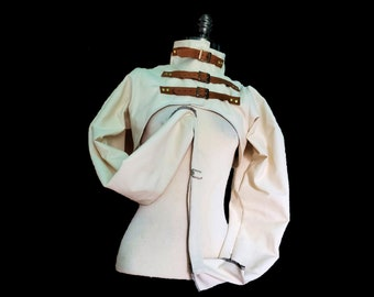 Custom Made Bolero Style Straitjacket with Victorian /Steampunk Styling (Made to Order)