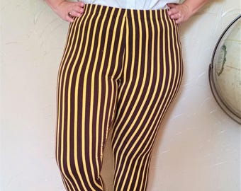 Steampunk Circus Striped Stretch Leggings