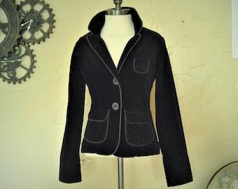 Wonderful Sexy and Flattering Velvet Like Gothic Blazer Jacket