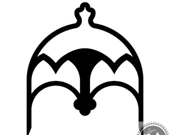 Gothic Arch Arbor Digital Files for 3D printing, Laser Cutting, Cricut, and PDF