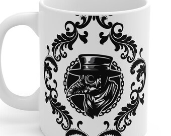 Plague Doctor with Filigree mug