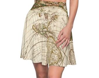 Steampunk Adventurer Skirt Featuring Vintage Maps!