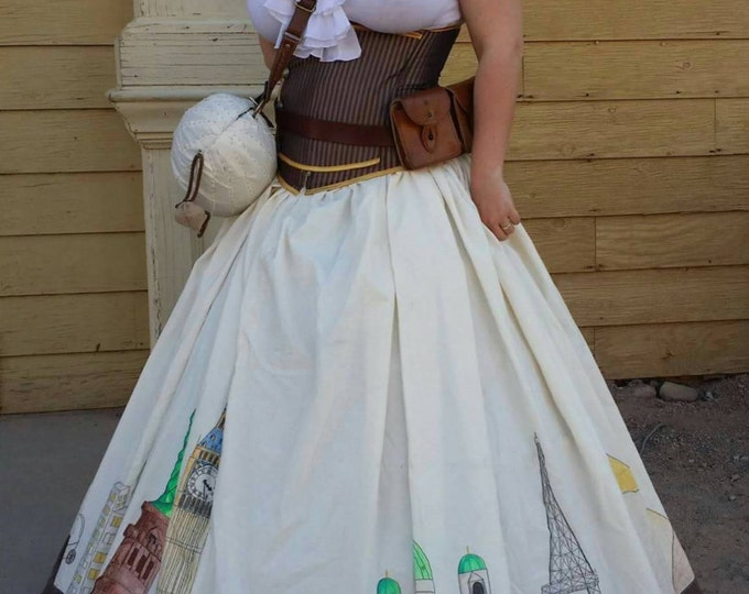 Custom Made Hoop Skirt in Your Size! Includes Simple Steel Hoop Crinoline and Peticoat