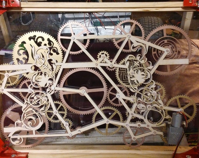 laser cut kinetic window gear box