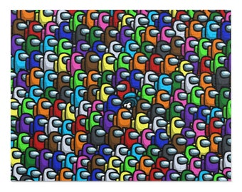 Among Us Inspired Original Fan Art 252 Piece Puzzle