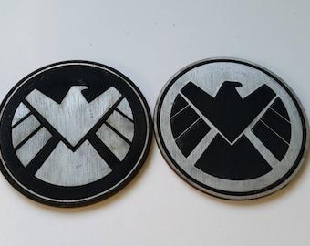Marvel Agent of Shield Inspired Coaster Set of 4