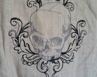 "Quarantine Sale! Steampunk Filigree Skull Waistcoat Vest Size 38"" chest"