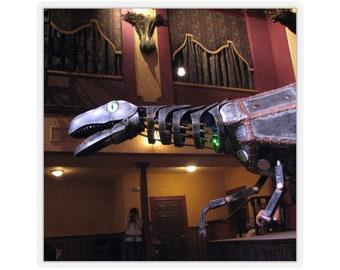 D.I.N.O Sticker Steampunk Dinosaur